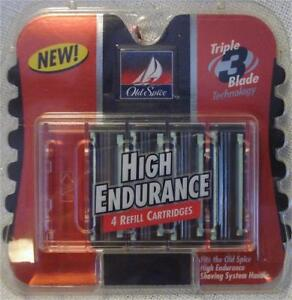 Old Spice High Endurance 4 Refill Cartridges for Razor Triple Blade