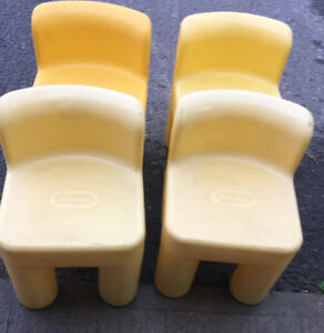 4 little tikes chunky chairs very sturdy