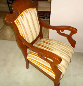 Victorian Hard-Carved HARDWOOD ARCHITECTURE—European Upholstery