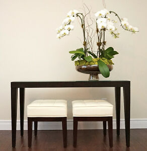 Transitional Console Table & Stools