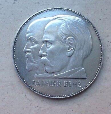 Medaille DAIMLER-BENZ 75 Jahre Motorisierung Jubiläum 1886-1961 Silber 1000 MBT