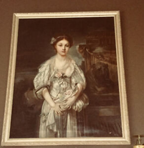 ANTIQUE OIL ON CANVAS by H. N. ANDREWS * A BROKEN VESSEL