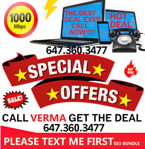 IPTV BOX 1 MONTH FREE  $100 ONLY , INTERNET DEALS CABLE TV PHONE