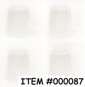 NEUF – Lot 4 tasses Corelle blanches
