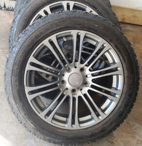 4 mags pneus d'hiver / winter tires 215-55-17