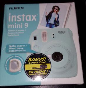 Fuji FJF4522 Instax Mini 9 Instant Print Camera - Ice Blue