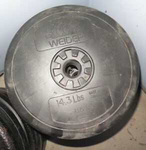 4 x 14.3lb Plastic Weights totalling 56 lbs total $40