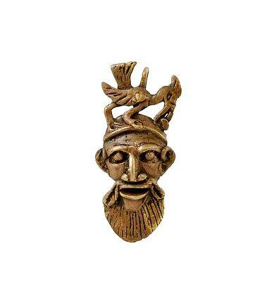 Mask African Bamoun Ancestor Hornbill Door Keys B10 B