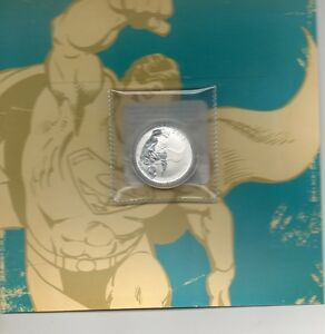 2015 SUPERMAN $20 PURE SILVER COIN (99.99)