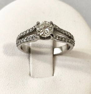 Platinum Diamond Engagement Ring *Beauty* Appraised at $5,000