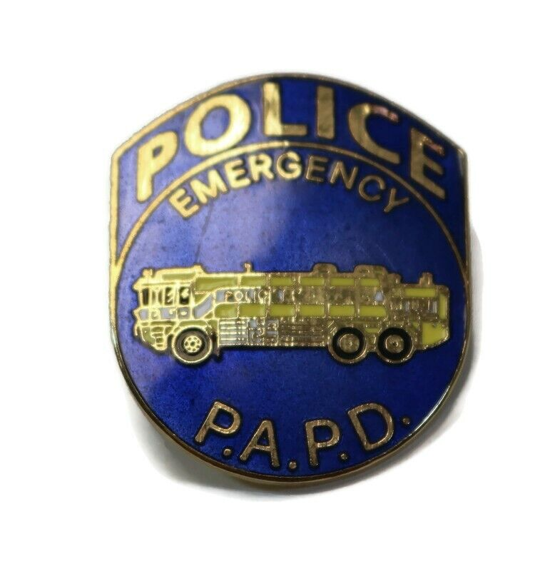 PORT AUTHORITY POLICE PAPD Emergency Fire Truck Vintage Lapel Hat Pin