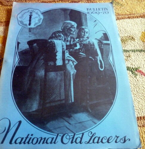 RARE 1969 NATIONAL OLD LACERS Bulletin Patterns & Articles on Lace