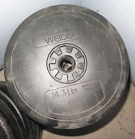 4 x 14.3lb Plastic Weights totalling 56 lbs total $30