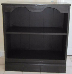 Solid Wood Two Shelf Bookcase