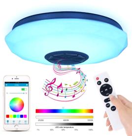 Ceiling Light, Multicolor, Bluetooth Speaker, APP or remote control