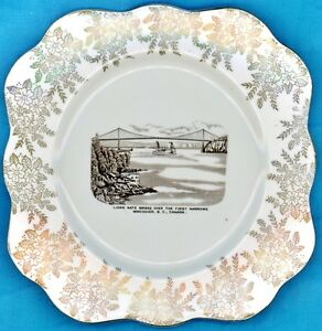 Mid Century Lions Gate Bridge China Commemorative Plate