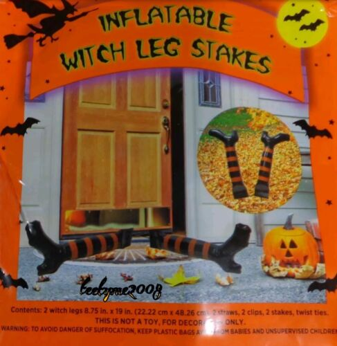Haunted House Inflatable Witch-leg Stakes Halloween Decor/prop