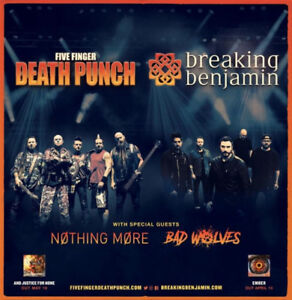 2 Tickets - Breaking Benjamin, 5 Finger Death Punch