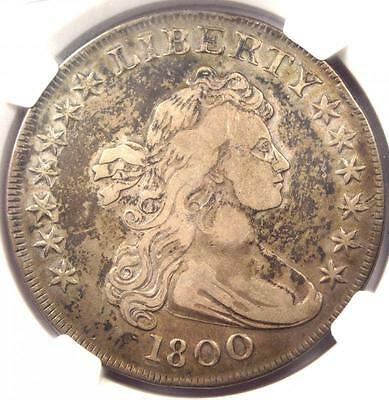 1800 DRAPED BUST SILVER DOLLAR $1 COIN  BB 193 B 19 RARITY 4   NGC VF DETAIL
