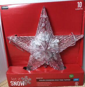 Christmas - color changing star tree topper - new in  box