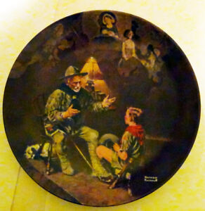 """Norman Rockwell collectible plate """"The Old Scout"""" - limited"""