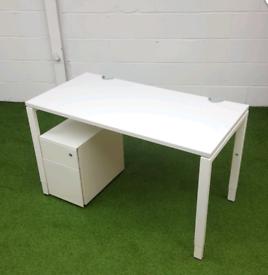 White desk 1200mm x 600mm office furniture