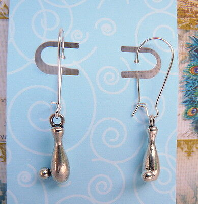 Baseball Softball Ball Bat Sports Theme Silver Kidney Wire Earrings  Ball Kidney Wire Earrings