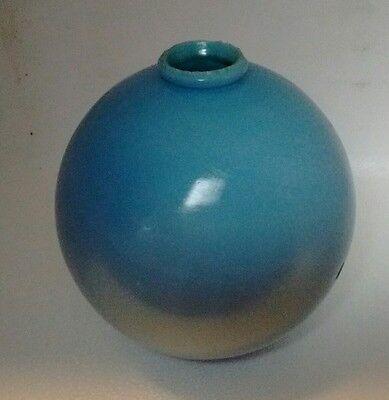 Blue Milk Glass Lightning Rod Ball 4.5