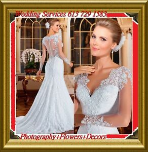 DRESS +FLOWERS+DECORS+CHAIR COVERS from $39 &WEDDING Photography