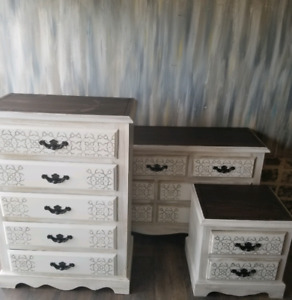 Two matching dressers (nightstand sold)