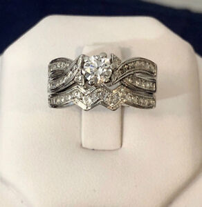 14K White Gold Diamond Engagement Ring Set *Appraised at $5,700