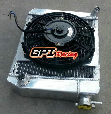 50mm Aluminum Radiator+shroud+FAN For AUSTIN ROVER MINI 1275 GT 1959-1997 MT