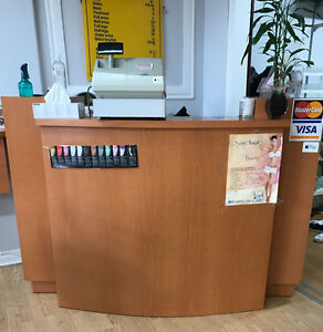 Salon Hair stations and reception desk