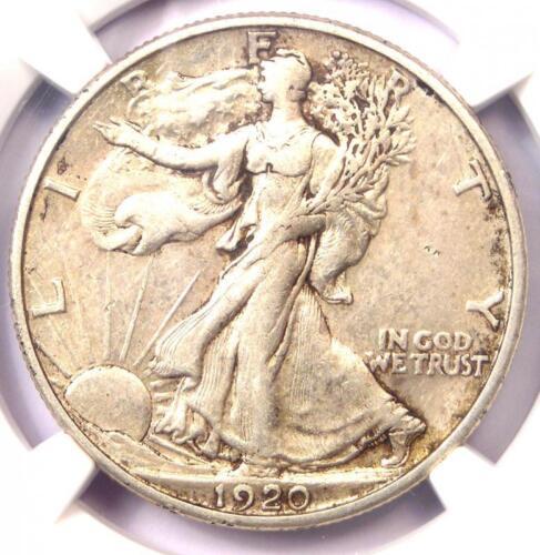 1920-S Walking Liberty Half Dollar 50C - Certified NGC AU50 - Rare Date!