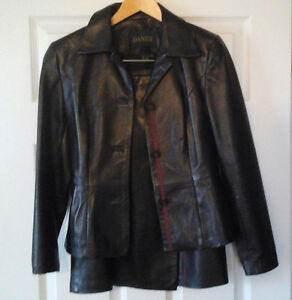 Leather jacket and skirt, Danier, new condition Kawartha Lakes Peterborough Area image 4