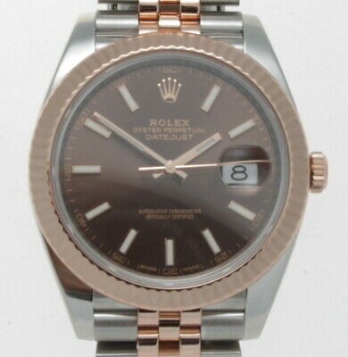 ROLEX DATEJUST 41MM  STEEL & EVEROSE GOLD JUBILEE BRACELET WATCH 12633 W/ CARD