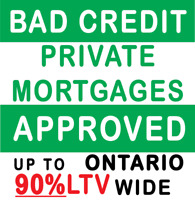 Fast Private Mortgage - Second Mortgage - 90% LTV in Kitchener