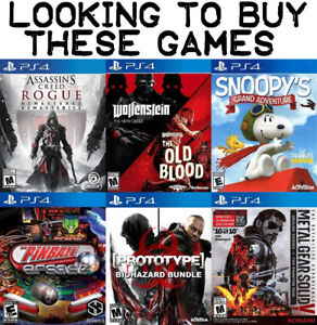 Buying These Games For PS4