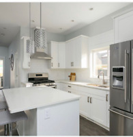White Shaker All Wood Cabinets