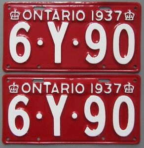 Classic Car YOM License Plates - Ministry Approval Guaranteed Kitchener / Waterloo Kitchener Area image 5