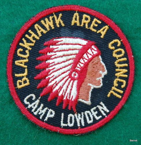 BOY SCOUT CAMP PATCH - CAMP LOWDEN - BLACKHAWK AREA COUNCIL