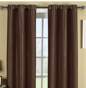 Curtains panel (good condition), flat queen size bedsheet (NEW)