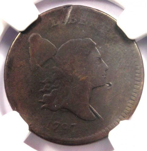 1797 Liberty Cap Flowing Hair Half Cent 1/2C - NGC VG Detail - Rare Coin!