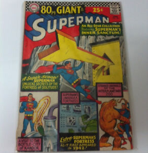 DC COMICS SUPERMAN #167 1966 FORTRESS OF SOLITUDE