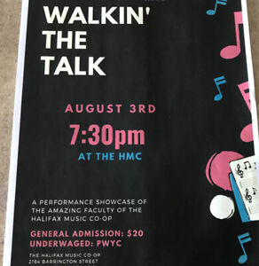 """Walkin"""" The Talk: Music by the Halifax Music Co-op Faculty"""