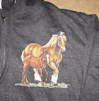 Adult Full Zipper Hoodie with Mare and Foal picture
