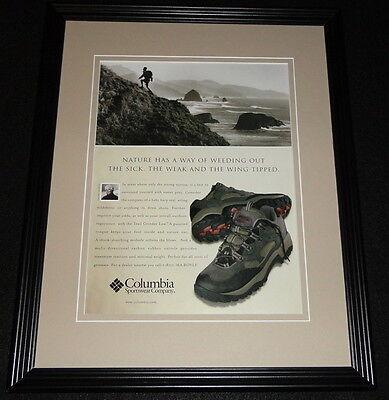 2001 Columbia Sportswear Trail Grinder Low 11x14 Framed ORIGINAL Advertisement Trail Grinder
