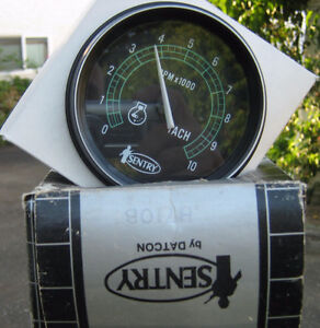 10,000 RPM Tach by Sentry / Datcon . Tachometer.  New old stock