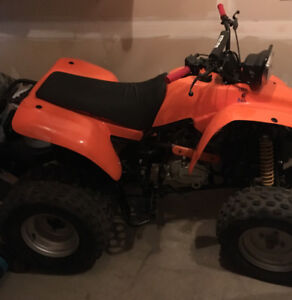 Quad for sale, need of some TLC but runs good. New tires, revers