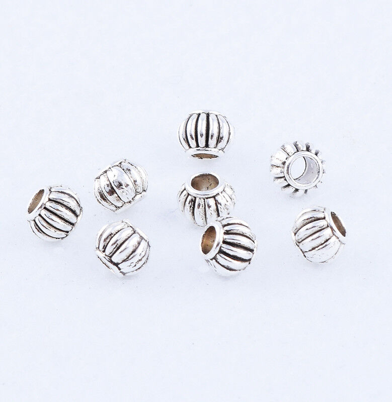 Free Ship 100Pcs Tibetan Silver Gold Spacer Beads For Jewellery Findings 6x4.5mm